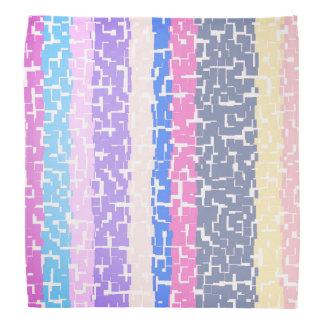 Bandana Amarillo/gris multicolor/beige/rosa/púrpura/azul