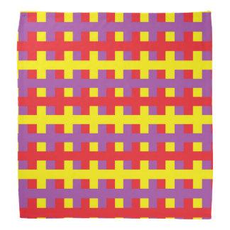 Bandana Amarillo, púrpura y rojo abstractos