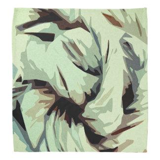 Bandana Arte abstracto terroso del tono de la tierra