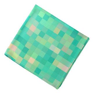 Bandana Arte verde multicolor del pixel del modelo