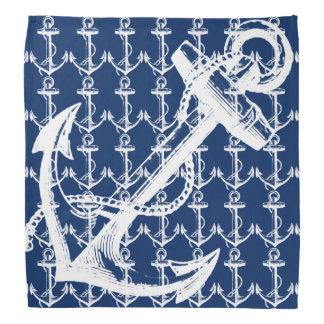 Bandana Azules marinos blancos del ancla
