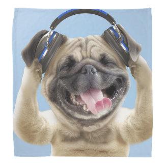 Bandana Barro amasado con los auriculares, barro amasado,