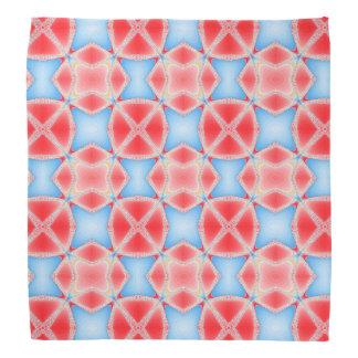 Bandana Caleidoscopio del fractal en rojo y azul