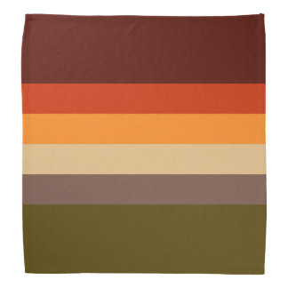 Bandana Colores del otoño - verde rojo Brown del moreno
