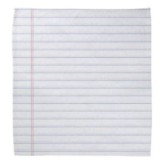 Bandana Cuaderno Hankerchief de papel