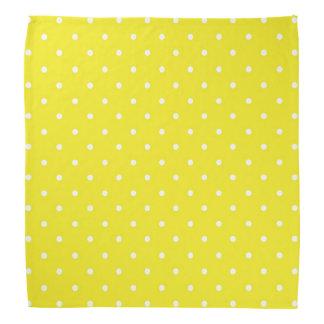 Bandana Diseño amarillo del lunar
