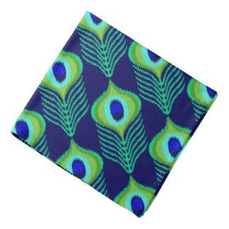 Bandana Diseño marroquí del ikat de la pluma del pavo real