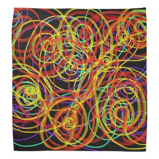 Bandana Diseño multicolor del arte abstracto del indie de