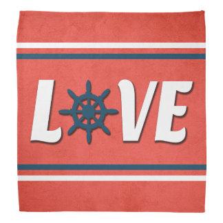 Bandana Diseño náutico del amor
