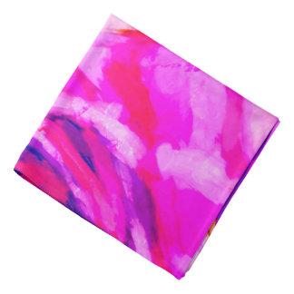 Bandana Diseño rosado y azul abstracto