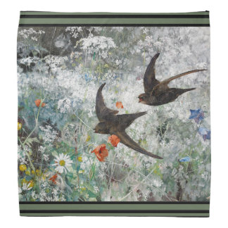Bandana El Wildflower de la fauna de los pájaros del trago