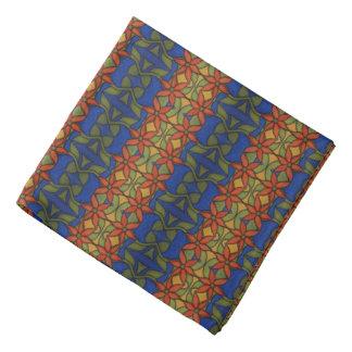 Bandana Estampado de flores azul y verde anaranjado