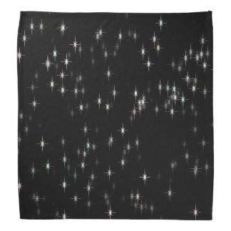 Bandana Estrellas multicoloras del pastel/fondo negro