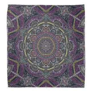 Bandana Estrellas sagradas y cordón de la mandala púrpuras