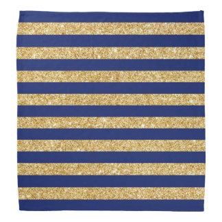 Bandana Falso brillo elegante del oro y modelo de la raya