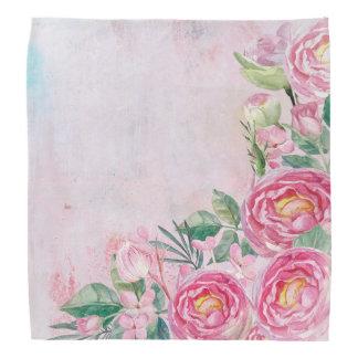 Bandana Flores subiós primavera floral de los rosas de