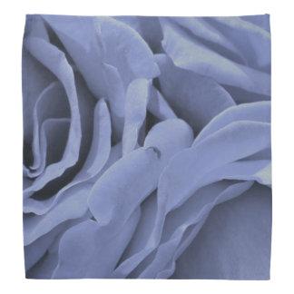 Bandana Foto gris azul clara delicada de la flor de los