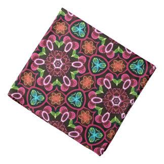 Bandana Jimette Diseño flores multicolor sobre