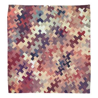 Bandana La tierra entonó el modelo abstracto multicolor