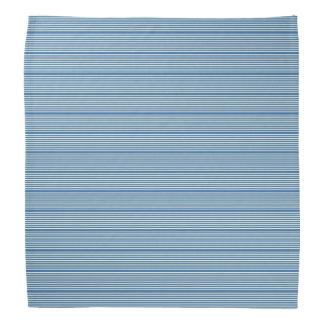Bandana Las rayas modelan la crema del azul de dos tonos
