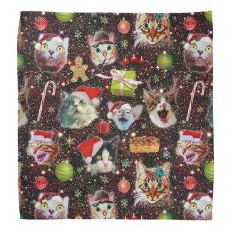 Bandana Los gatos del navidad en galaxia del espacio