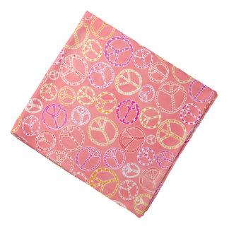 Bandana Los signos de la paz modelan en rosa
