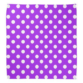 Bandana Lunares púrpuras y blancos