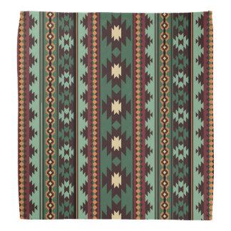 Bandana Marrón verde tribal del sudoeste