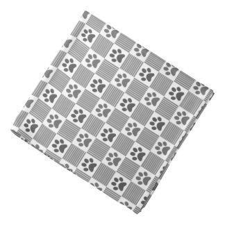 Bandana Mascota lindo del blanco gris del modelo de la