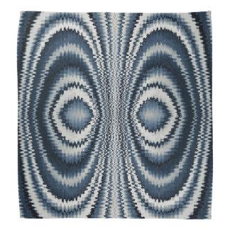 Bandana Modelo abstracto blanco azul caprichoso