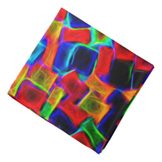 Bandana Modelo abstracto de neón del multicolor moderno