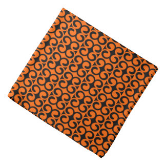 Bandana Modelo anaranjado y negro