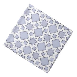 Bandana Modelo azul descolorado del edredón del fractal