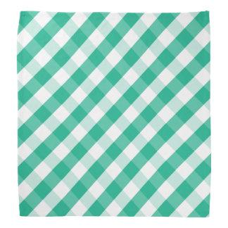 Bandana Modelo blanco verde simple de la guinga de St