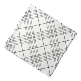Bandana Modelo comprobado blanco y negro de la tela