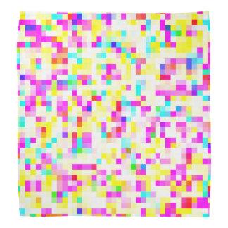 Bandana Modelo de mosaico multicolor brillantemente