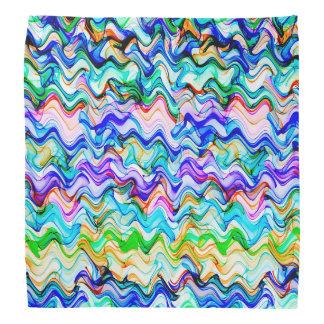 Bandana Modelo de zigzag ondulado multicolor fresco
