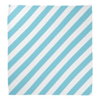 Bandana Modelo diagonal azul y blanco de las rayas