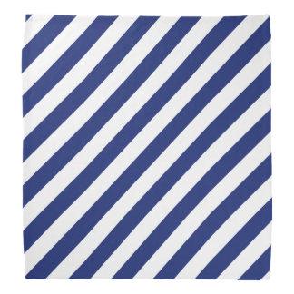 Bandana Modelo diagonal del azul marino y blanco de las