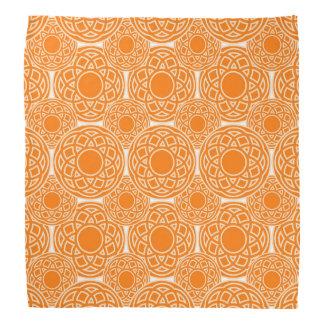 Bandana Modelo geométrico anaranjado abstracto