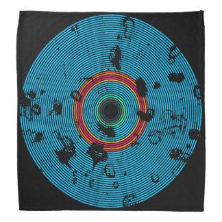 Bandana Modelo multicolor azul de la textura del disco del