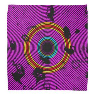Bandana Modelo multicolor de la textura del disco del