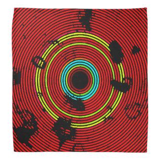Bandana Modelo multicolor rojo de la textura del disco del
