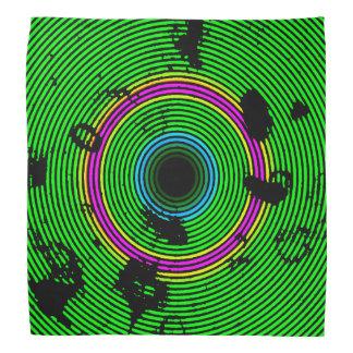 Bandana Modelo multicolor verde de la textura del disco