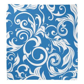 Bandana Modelo náutico del papel pintado floral del azul