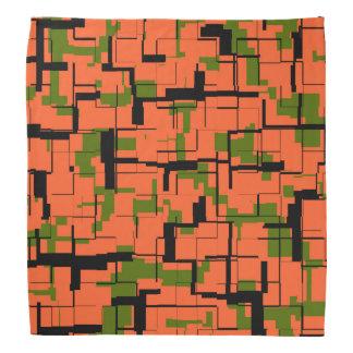 Bandana Modelo negro anaranjado verde de Digitaces Camo
