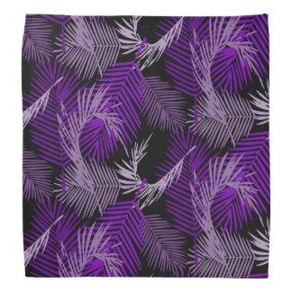 Bandana Modelo púrpura de las hojas de palma