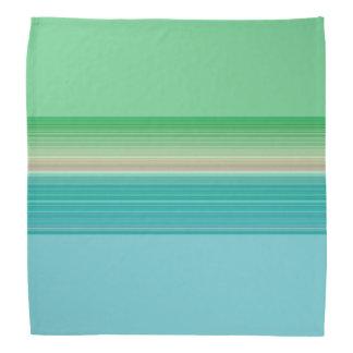 Bandana Modelo rayado multicolor azulverde