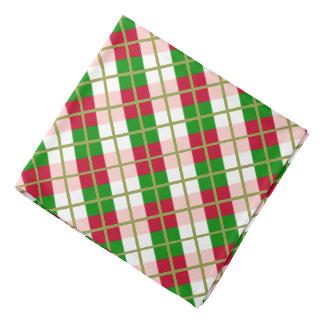 Bandana Modelo retro de la tela escocesa del navidad