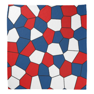 Bandana Modelo rojo, blanco y azul